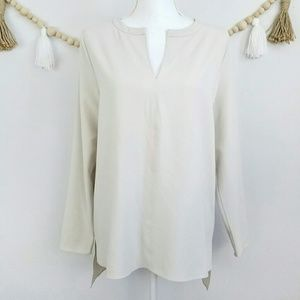 Oak + Fort Beige Taupe  Cream Tunic Top Modern Sma